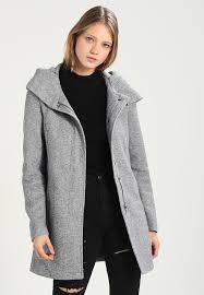 vmverodona short coat light grey melange