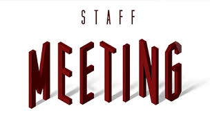 staff meeting flyer in house event announcements