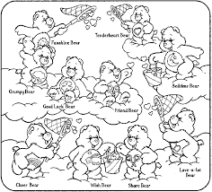 Small Picture Care Bears coloring page Click the Print Button on your browser to