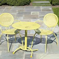 yellow patio furniture. Yellow Metal Patio Furniture Photo 4 Of 8 Bistro Set Clearance Wrought Iron . W