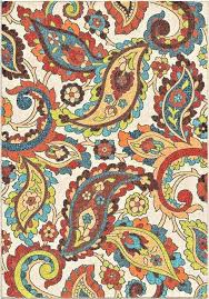 paisley area rugs good quality colorful modern paisley area rug shades of red blue green orange yellow brown on an ivory background paisley pattern area