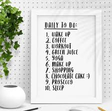 To Do List Or To Do List Daily To Do List Personalised Print