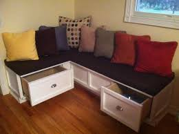 l shaped breakfast nook bench with storage drawers and
