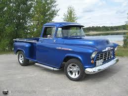 1956 Chevy pickup 1300 longbox viper blue id 14221