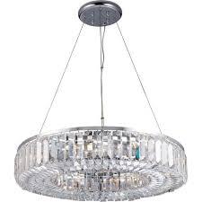 61151 banderas 8 light crystal ceiling light polished chrome