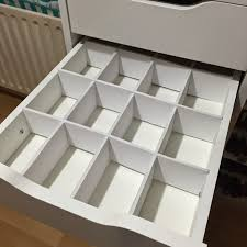 DIY Foamboard Drawer dividers for Ikea Alex Drawers