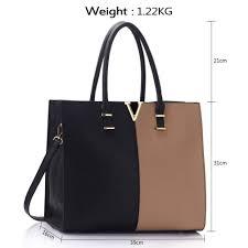 more views leahward black ndue v detail large women s faux leather tote handbags