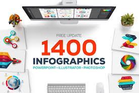 1400 Infographic Templates Presentations Design Cuts