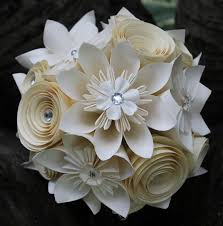 Paper Flower Bouquet For Wedding Origami And Spiral Bouquet Paper Bridal Bouquet Paper