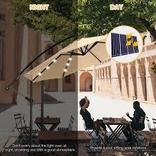 10 ft solar led patio outdoor umbrella