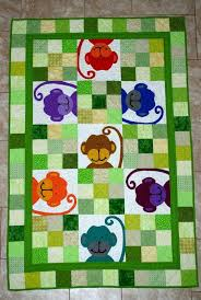 Monkey baby quilt   детям лоскутное   Pinterest   Monkey baby ... & Monkey baby quilt Adamdwight.com