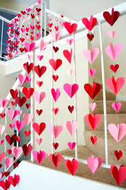valentine decorations for office. 3d heart paper garlands easy diy valentine decorations for office a