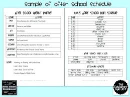 School Timetable Template Cute Schedule Weekly Class After ...