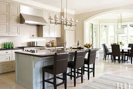 Open kitchen designs Ideas Open Kitchen With Dark Wood Stools Better Homes And Gardens Open Kitchen Layouts