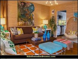 Groovy Funky Retro Bedroom Pictures - 60s style theme decorating - 70s theme  decorating - Funky