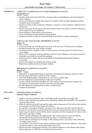 Reporting Analyst / Data Analyst Resume Samples | Velvet Jobs