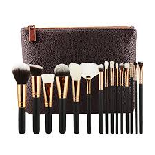 hot 15 pcs luxury plete makeup brush set professional rose golden make up brushes