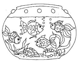 Small Picture Goldfish in the Fish Tank Coloring Page NetArt