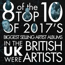 2017 In British Music Charts Music Fans Drive Growth To Deliver Biggest Rise In Sales In