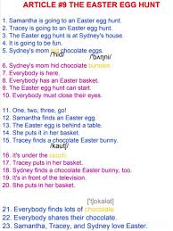 ARTICLE #9 THE EASTER EGG HUNT 🌹 1.... - English In A Minute