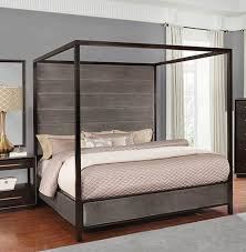Coaster Furniture Luddington Smoked Peppercorn Cal King Canopy Bed