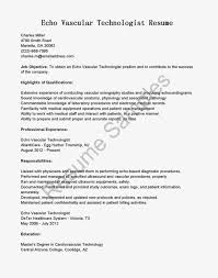 Ultrasound Resume Cover Letter Examples