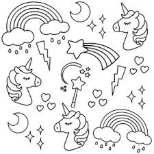 able colouring page from the i heart unicorns colouring book