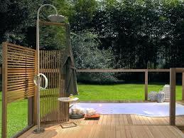 bathroom impressive modern metal outdoor shower enclosures with pvc plans