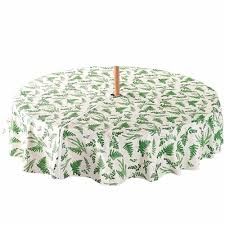 mesmerizing outdoor tablecloths with umbrella hole and zipper for your patio table decor awesome round