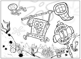 Small Picture Coloring pages from Spongebob Squarepants animated cartoons