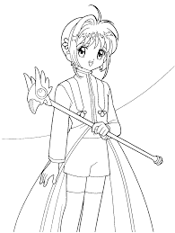 Card Captors Sakura Holding A Magic