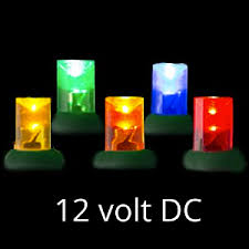 12 volt led light set multi green wire