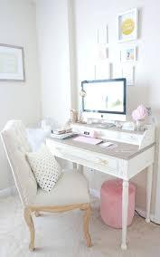 ... Large size of Feminine Desk Chair White Office Upholstered ...