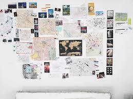 diy travel map wall