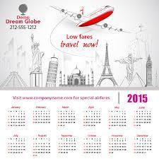 Travel Calendar 5x5 Square Corners Travel Calendar Magnet 20 Mil Calendar Magnets