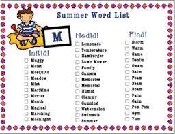 Summer Word List Summer Word List Magdalene Project Org