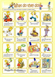 daily kids pages daily routines short essay ajuda na  the simpsons worksheets english buscar con google