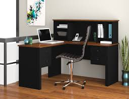 l shaped desk for sale. Beautiful For Somerville Black U0026 Tuscany Brown LShaped Desk With Hutch Intended L Shaped For Sale F
