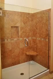 Porcelain Shower with Seat and Shelf traditional-bathroom