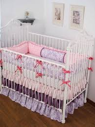 lilac crib bedding pastel shabby chic crib bedding with dark pink per bows contrasting with light pink and lilac crib bedding lilac nursery bedding sets