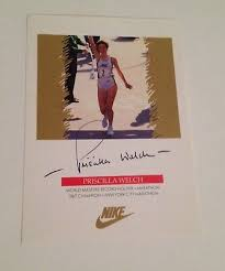 Vintage Nike Priscilla Welch World Masters Record Holder Autographed Photo  5X7 | eBay