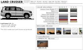 Toyota Land Cruiser Touchup Paint Codes Image Galleries