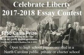 celebrate liberty essay contest north carolina lions  celebrate liberty 2018 rules and prompt
