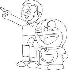 In this site you will find a lot of coloring pages in many kind of pictures. Doraemon With Nobita Colouring Pages Freen Download Cartoon Coloring Pages Cute Cartoon Drawings Art Drawings Sketches Simple