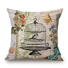 Retro <b>Printing</b> Cotton Butterfly <b>Sunflower</b> Cushion <b>Sofa</b> Home Decor ...