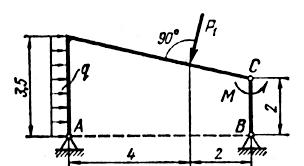 Реферат Определение реакций опор составной конструкции  Определение реакций опор составной конструкции
