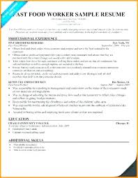 Sample Resume Free Interesting Food Service Resume Template Preinstaco