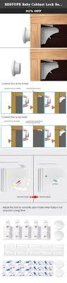 Medicine Cabinet Magnet Bestope Baby Cabinet Lock Safety Drawer Magnetic Locks 10 Locks