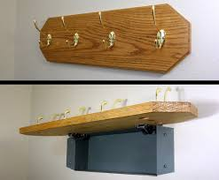 Hidden Gun Coat Rack Rustic coat rack w hidden compartment for covert storage of 84