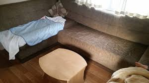 The settee cushion post clean with the cover to draw out the